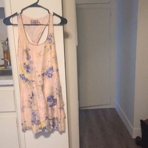 New Juicy Couture Peach and blue tiered dress
